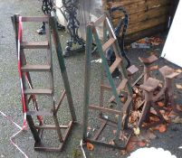 A pair of car ramps - sold with four axle stands
