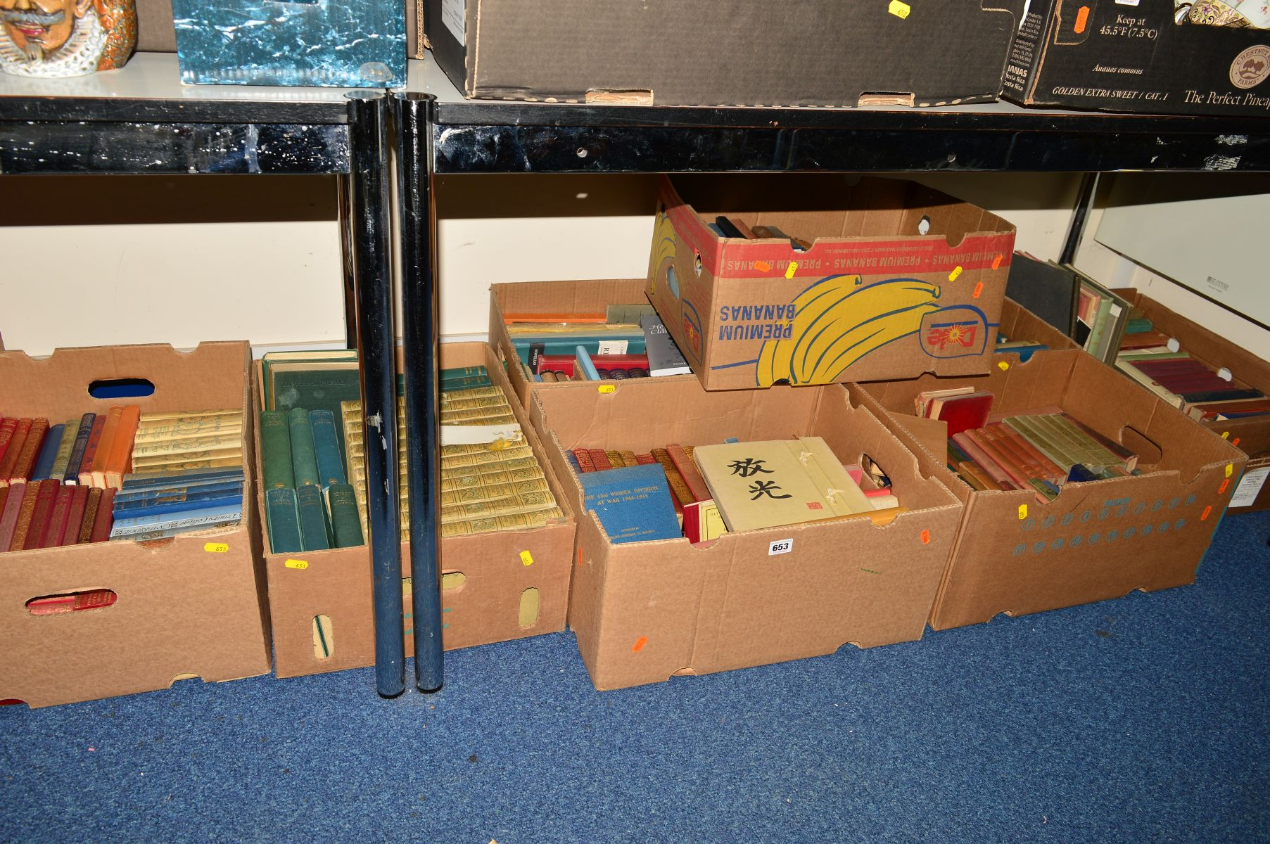 Lot 653 - EIGHT BOXES OF BOOKS, to include Essame, Major-general H, 'The 43rd Wessex Division At War 1944-