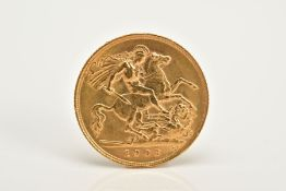 A 1908 GOLD HALF SOVEREIGN EDWARD VII