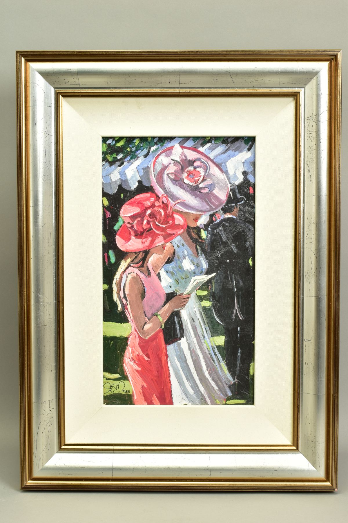 SHERREE VALENTINE DAINES (BRITISH 1959), 'Society Ladies', a Limited Edition print of female figures