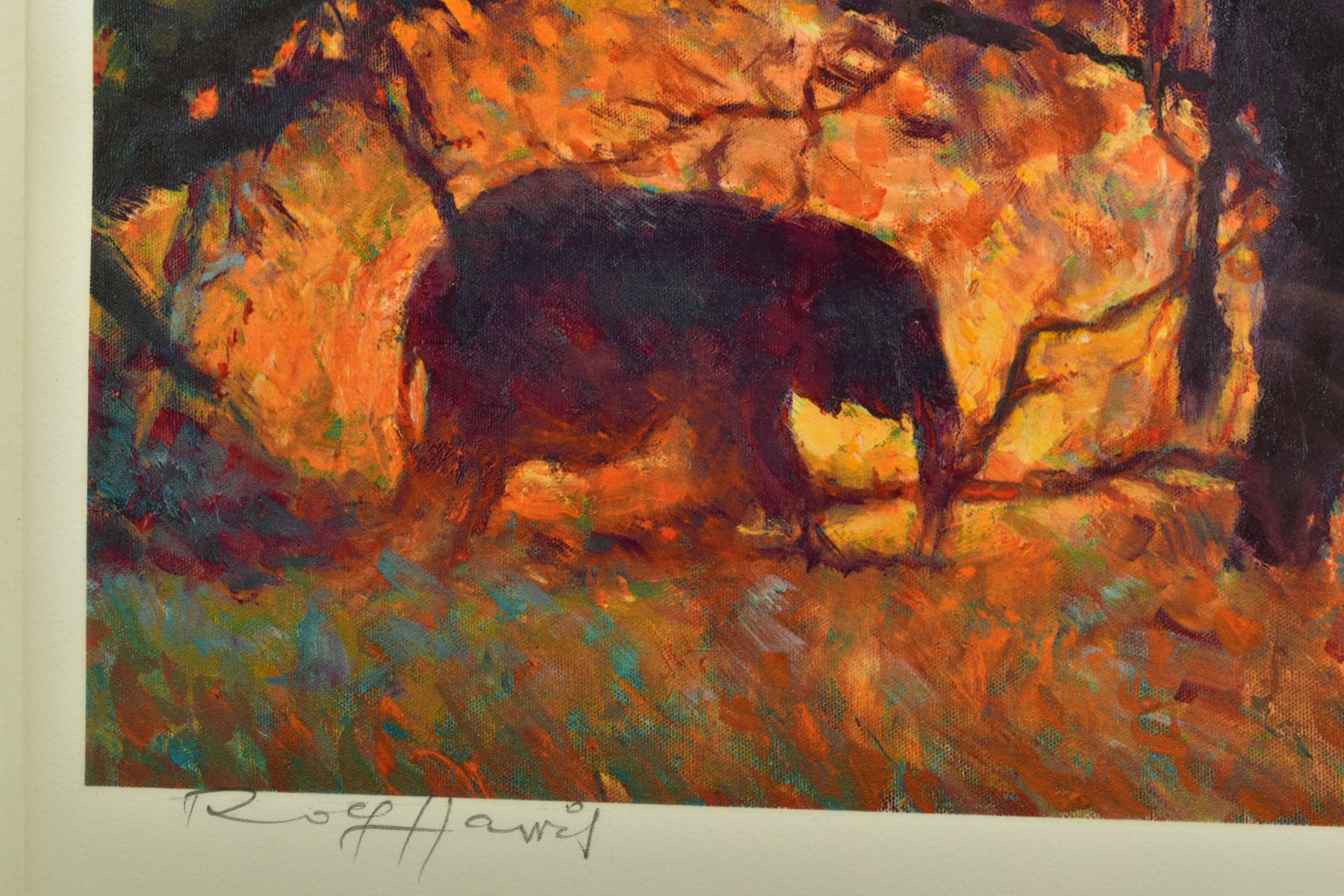ROLF HARRIS (AUSTRALIAN 1930), 'Backlit Gold', a Limited Edition print of Indian Elephants, 83/ - Image 3 of 9
