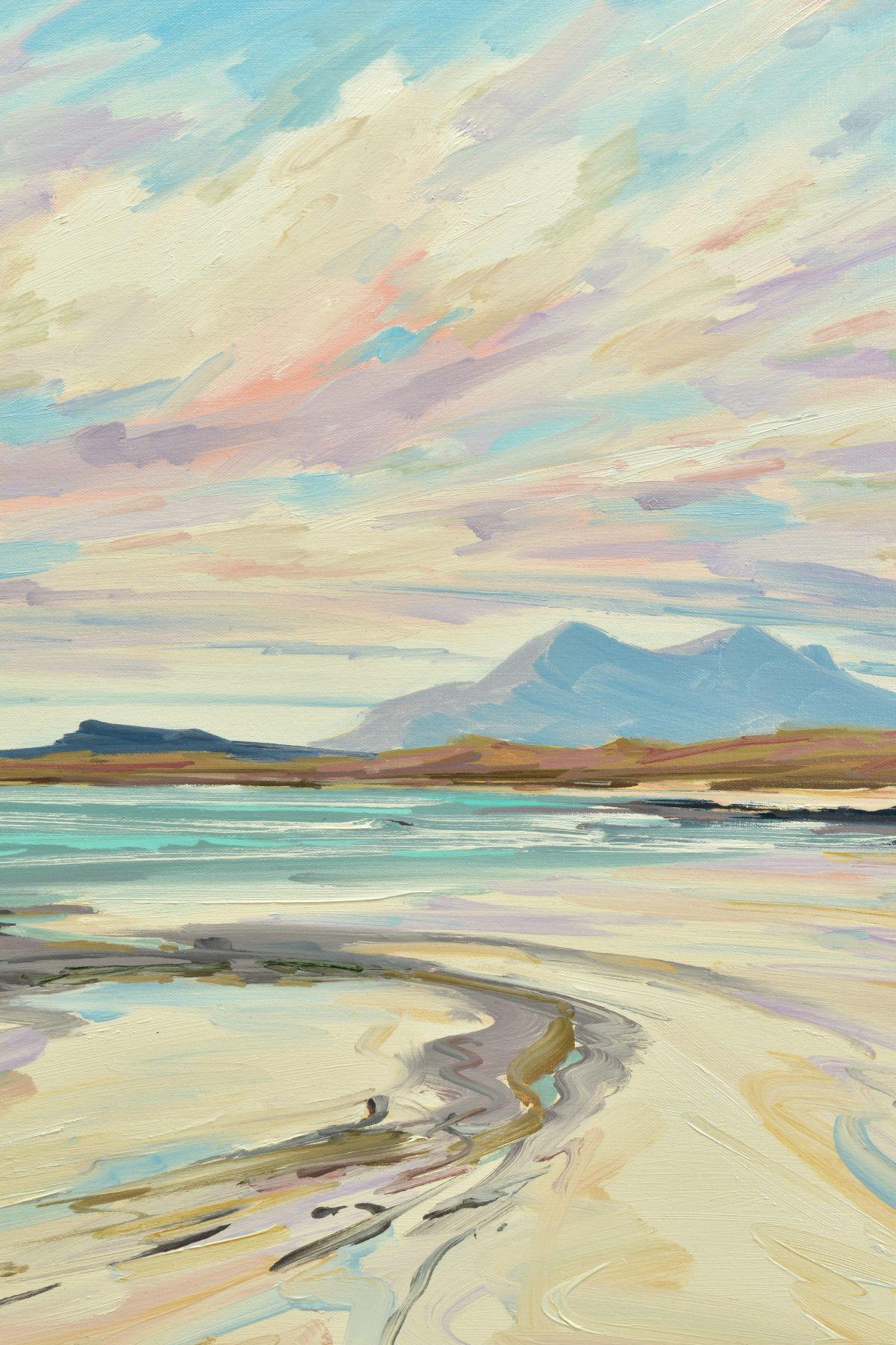 TOM BARRON (SCOTTISH CONTEMPORARY), 'Summer Light, Sanna Bay IV', a Scottish coastal landscape, - Image 2 of 5