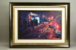 ROLF HARRIS (AUSTRALIAN 1930), 'Bus Stop, Hyde Park Corner', a Limited Edition print of London at