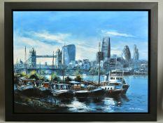 CSILLA ORBAN (HUNGARY 1961), 'London view over Tower Bridge', an impressionist London cityscape,