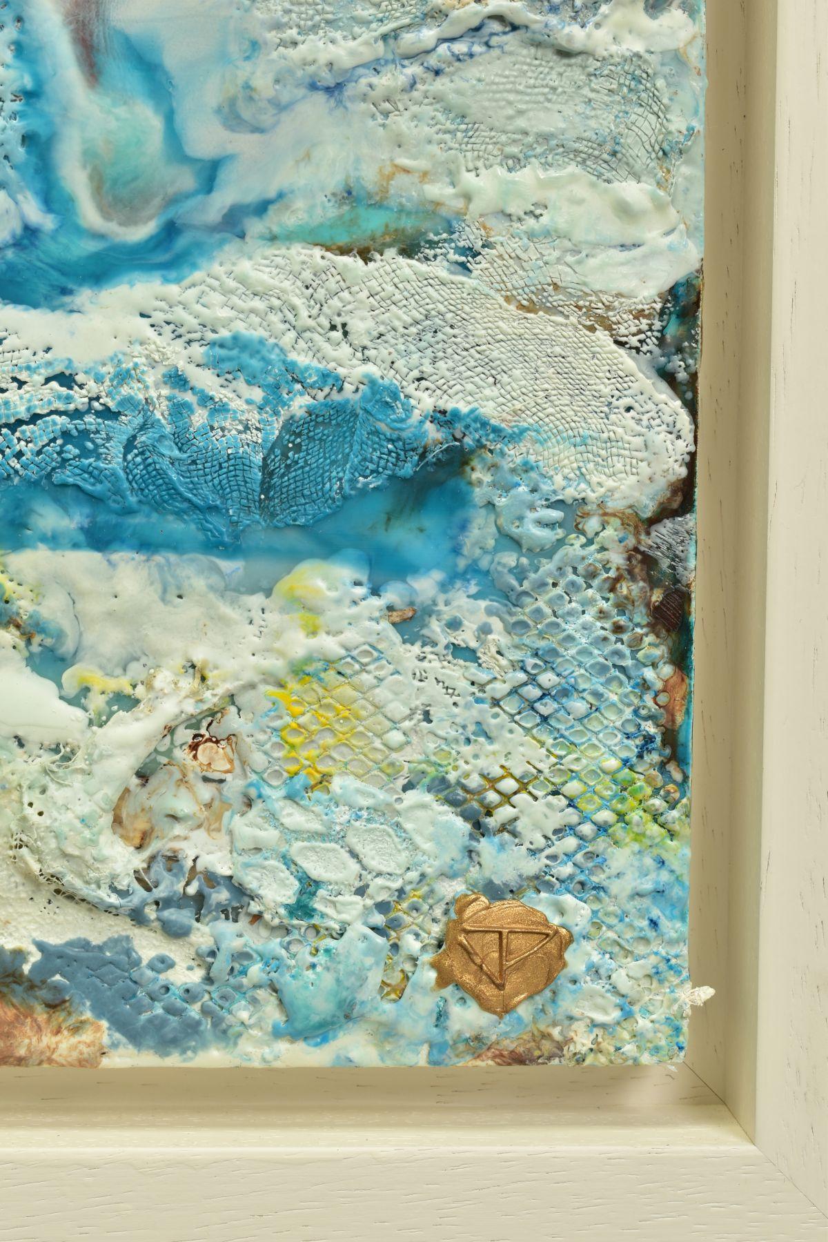 JENNINE PARKER (BRITISH 1971), 'Sea of Splendor', a coastal seascape, initialled bottom right, mixed - Image 3 of 7