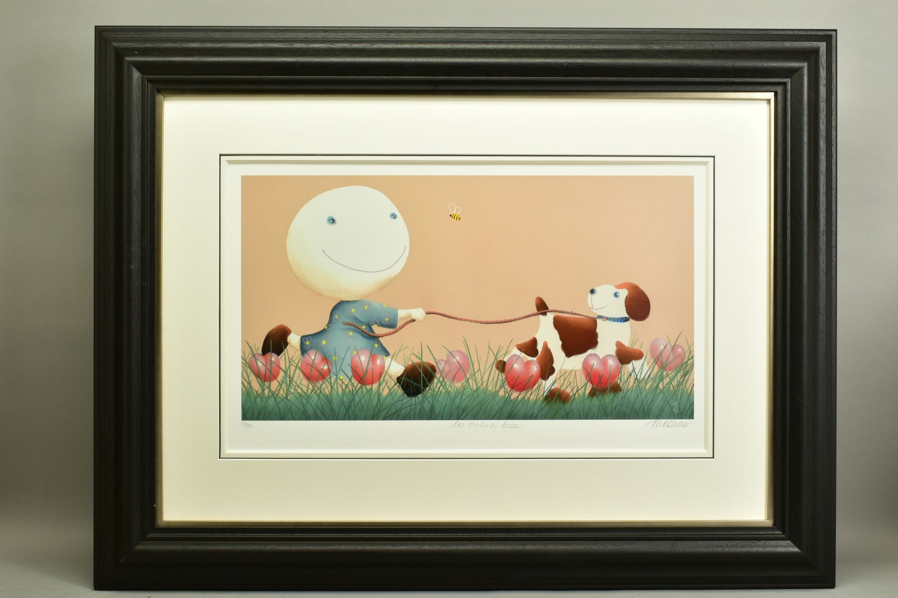MACKENZIE THORPE (BRITISH 1956), 'It's Only A Bee', a Limited Edition print of a girl and her dog,
