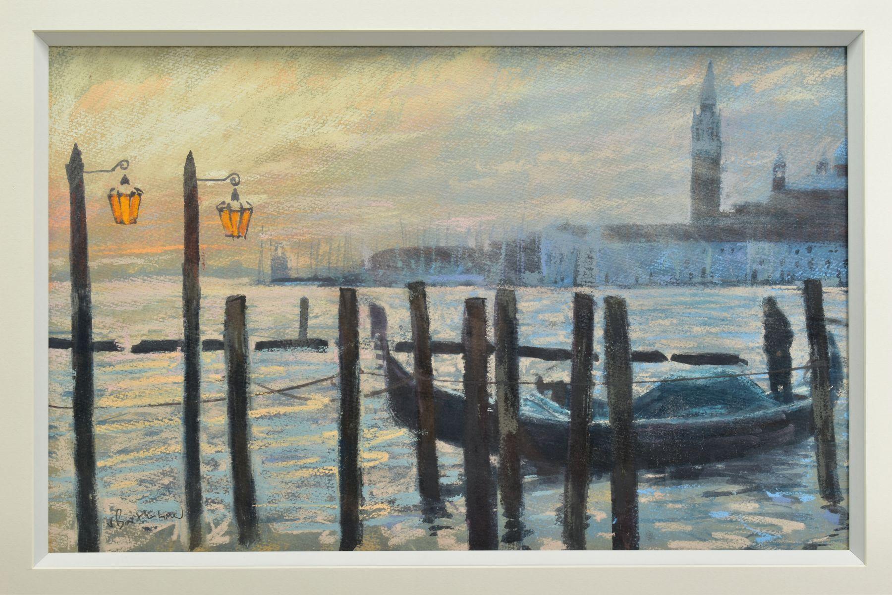 JAMES BARTHOLOMEW (BRITISH CONTEMPORARY), 'Towards San Giorgio, First Light', a Venetian scene - Image 2 of 7