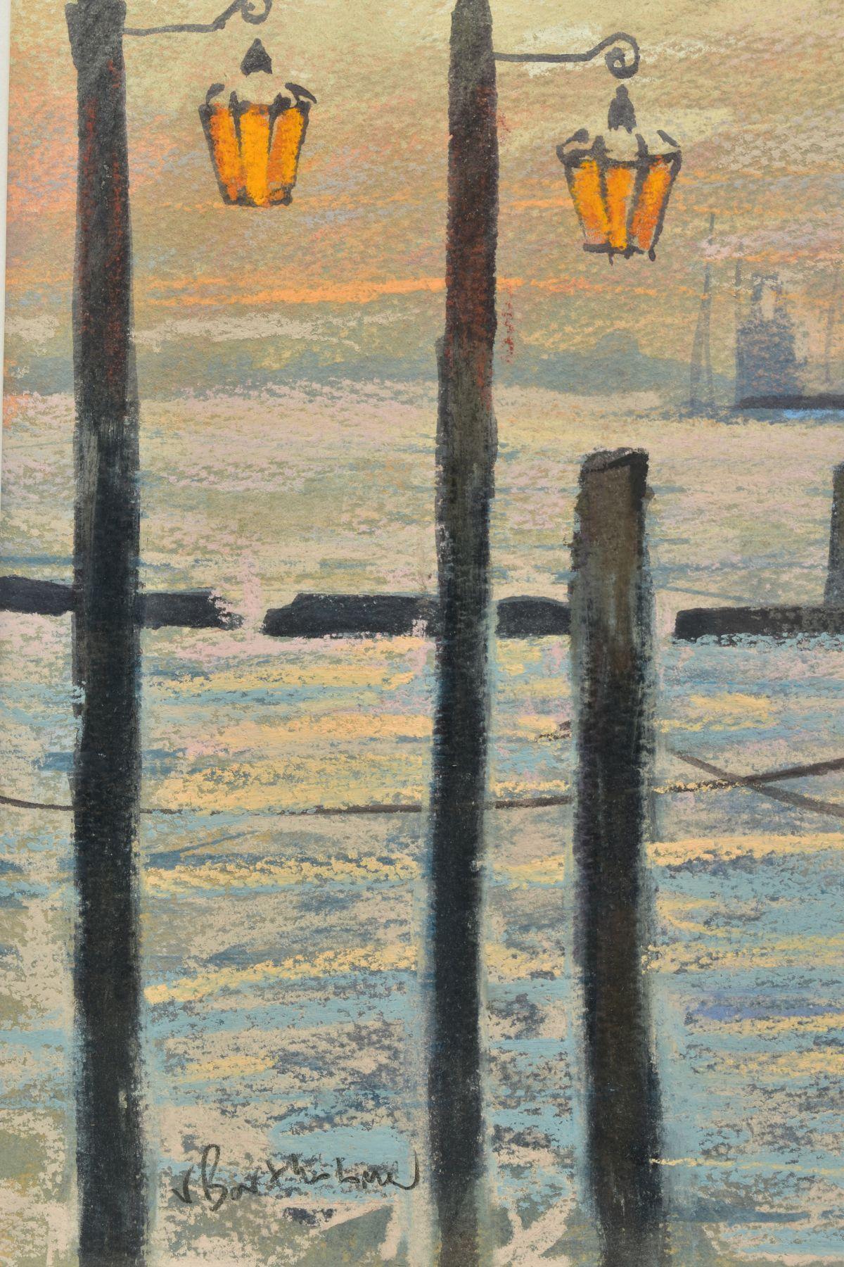JAMES BARTHOLOMEW (BRITISH CONTEMPORARY), 'Towards San Giorgio, First Light', a Venetian scene - Image 4 of 7