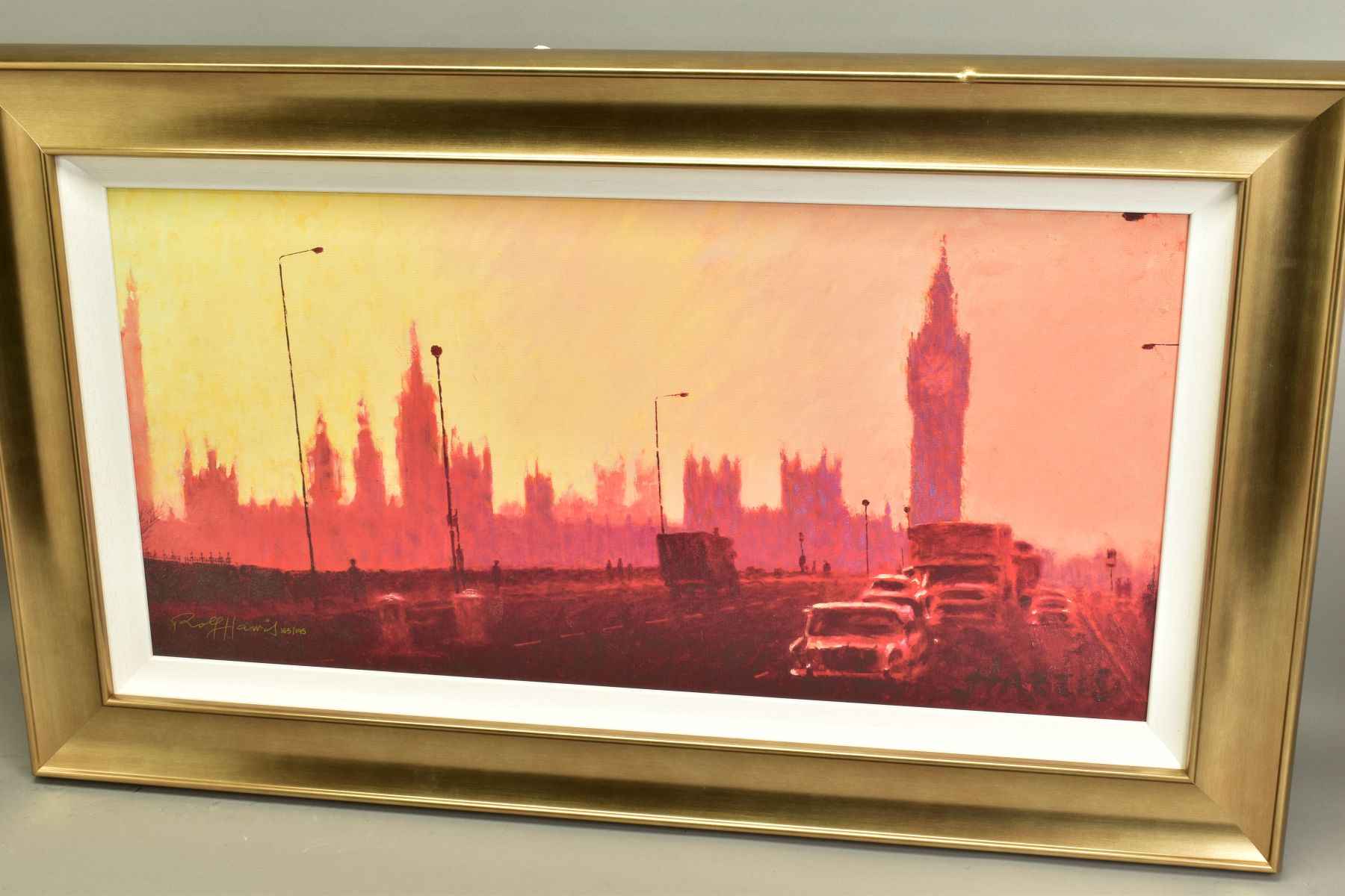 ROLF HARRIS (AUSTRALIAN 1930), 'Fifties Rush Hour', a Limited Edition print of a London skyline, - Image 4 of 6