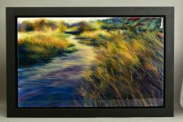 NICK ANDREWS (BRITISH CONTEMPORARY), 'Gerruba', an impressionist landscape with a stream running