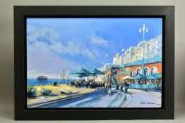 CSILLA ORBAN (HUNGARY 1961), 'Brighton Beach', an impressionist view of the south coast town, signed