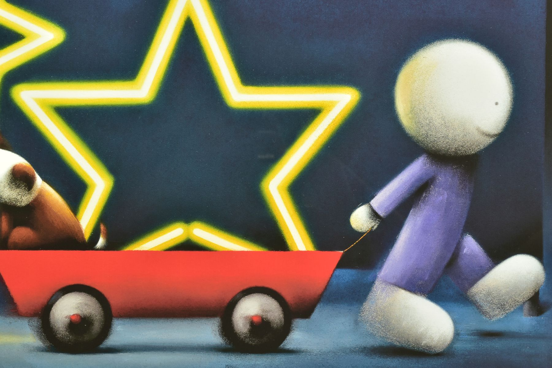 DOUG HYDE (BRITISH 1972), 'Star Sign', a boy pulling a Dog in a cart, 76/395, signed to lower margin - Image 3 of 6