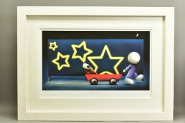 DOUG HYDE (BRITISH 1972), 'Star Sign', a boy pulling a Dog in a cart, 76/395, signed to lower margin