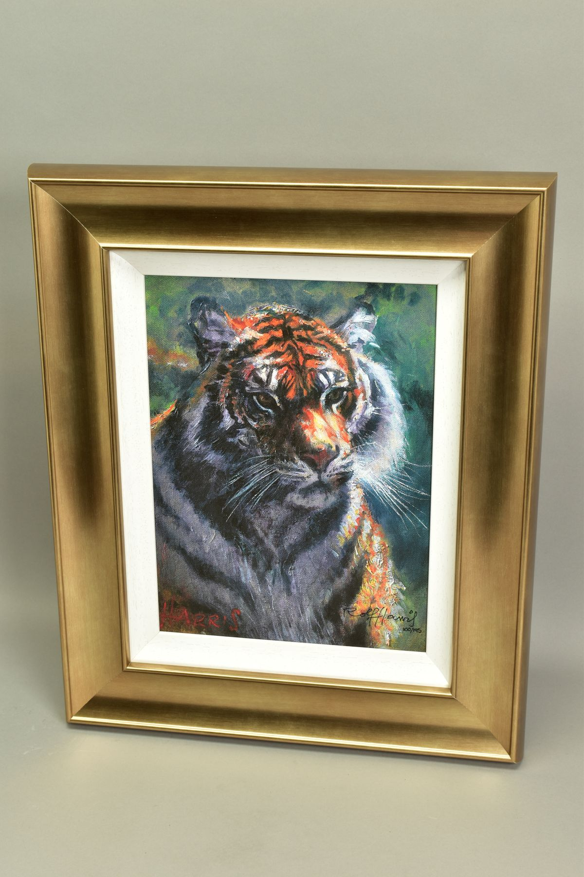 ROLF HARRIS (AUSTRALIAN 1930), 'Tiger in The Sun', a Limited Edition print, 100/95, signed bottom - Image 4 of 5