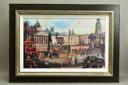 CHRISTIAN HOOK (BRITISH 1971), 'Trafalgar Square, London', a Limited Edition print, 67/295, signed