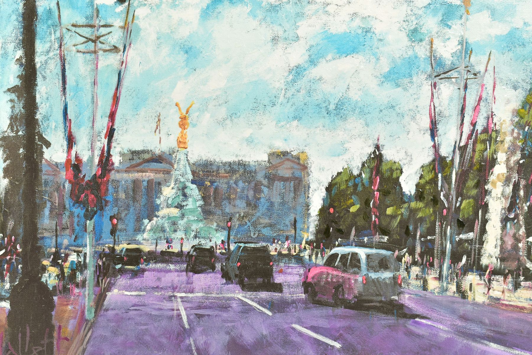 TIMMY MALLETT (BRITISH CONTEMPORARY), 'Celebrating On The Mall', a Limited Edition print of a London - Image 2 of 7