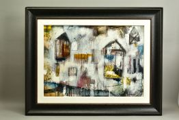 JOHN AND ELLI MILAN (AMERICAN CONTEMPORARY), 'Urban Colour III', an abstract composition, signed