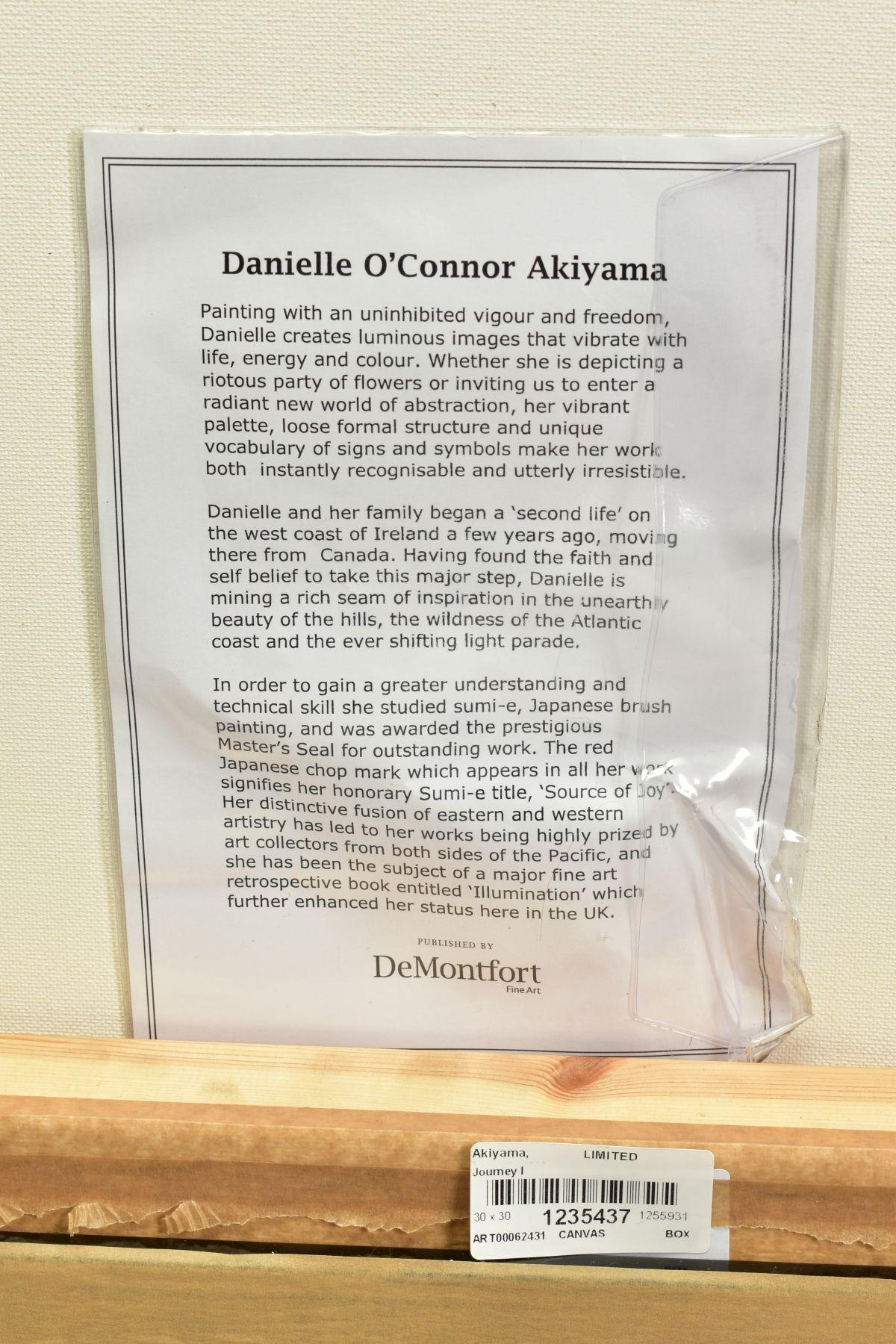 DANIELLE O'CONNOR AKIYAMA (CANADA 1957), 'Journey I', a Limited Edition print of blossom, 36/195, - Image 5 of 5
