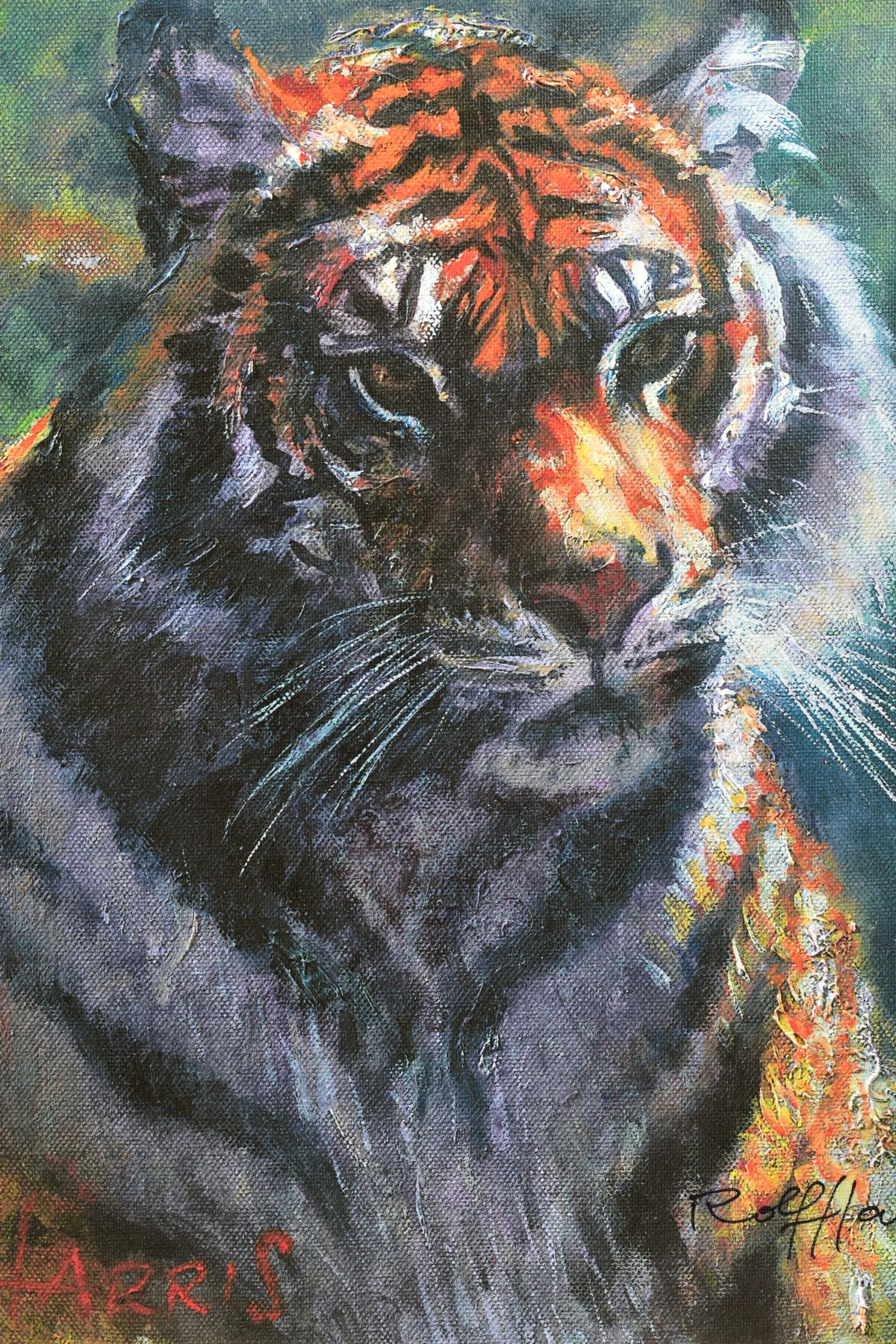 ROLF HARRIS (AUSTRALIAN 1930), 'Tiger in The Sun', a Limited Edition print, 100/95, signed bottom - Image 2 of 5