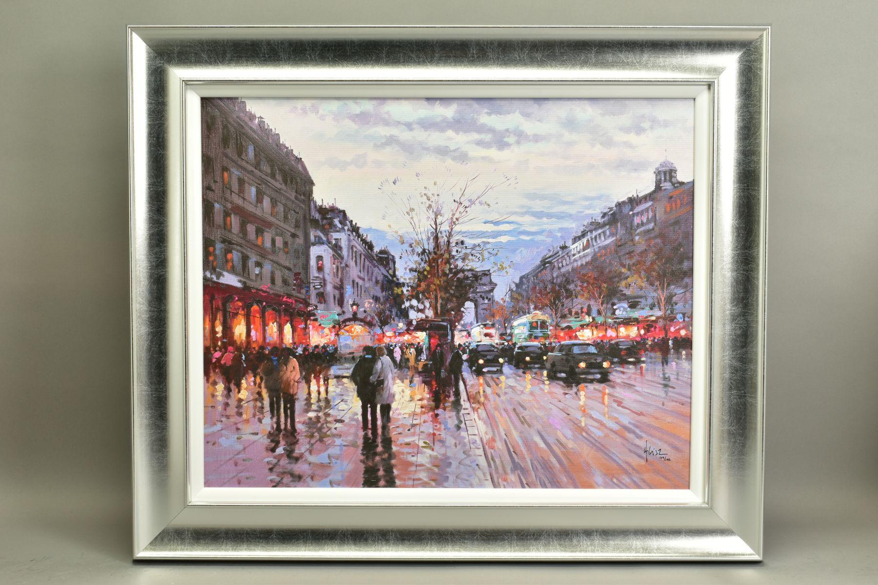 HENDERSON CISZ (BRAZIL 1960), 'Romance in Paris', a Limited Edition print of a Parsian street scene,