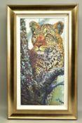 ROLF HARRIS (AUSTRALIAN 1930), 'Alert For Prey', a Limited Edition print of a Leopard, 54/195,
