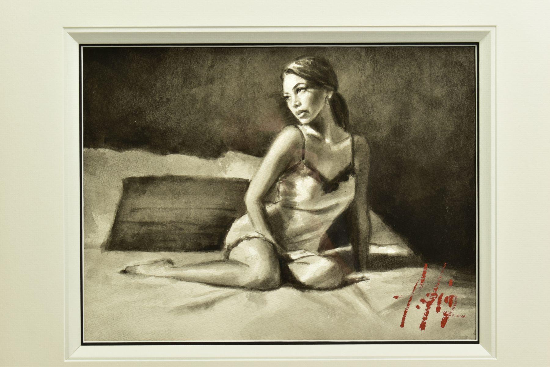 FABIAN PEREZ (ARGENTINA 1967), 'Andlucia VI', a portrait study of a scantily clad female figure, - Image 2 of 7