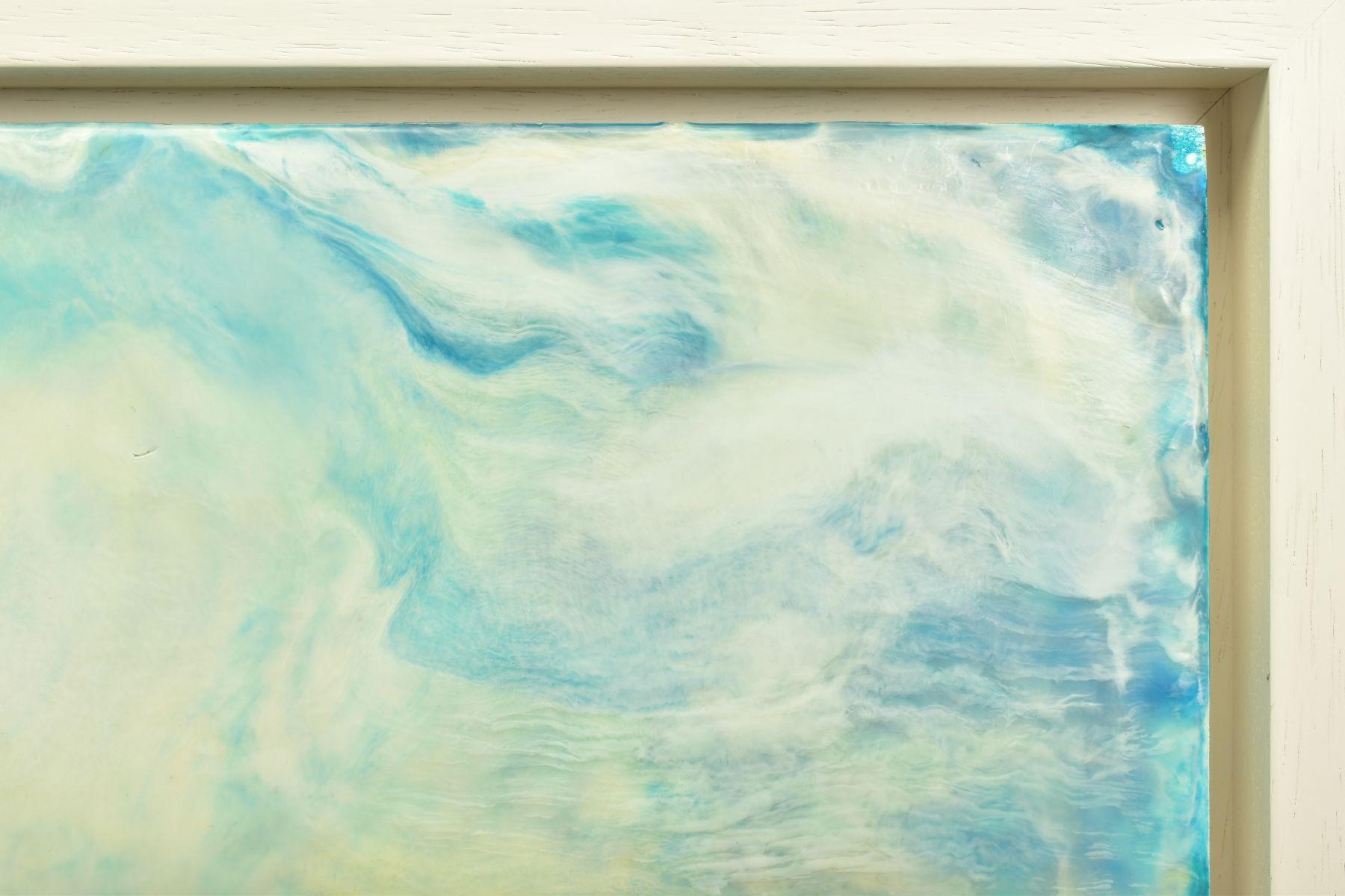 JENNINE PARKER (BRITISH 1971), 'Sea of Splendor', a coastal seascape, initialled bottom right, mixed - Image 4 of 7