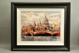 GARY BENFIELD (BRITISH 1965), 'St Pauls', a Limited Edition print of a London skyline, 27/195,