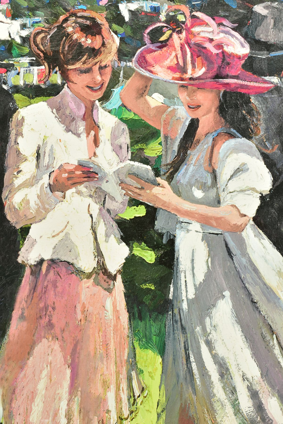 SHERREE VALENTINE DAINES (BRITISH 1959), 'Royal Ascot, Ladies Day II', a Limited Edition print, 60/ - Image 2 of 6