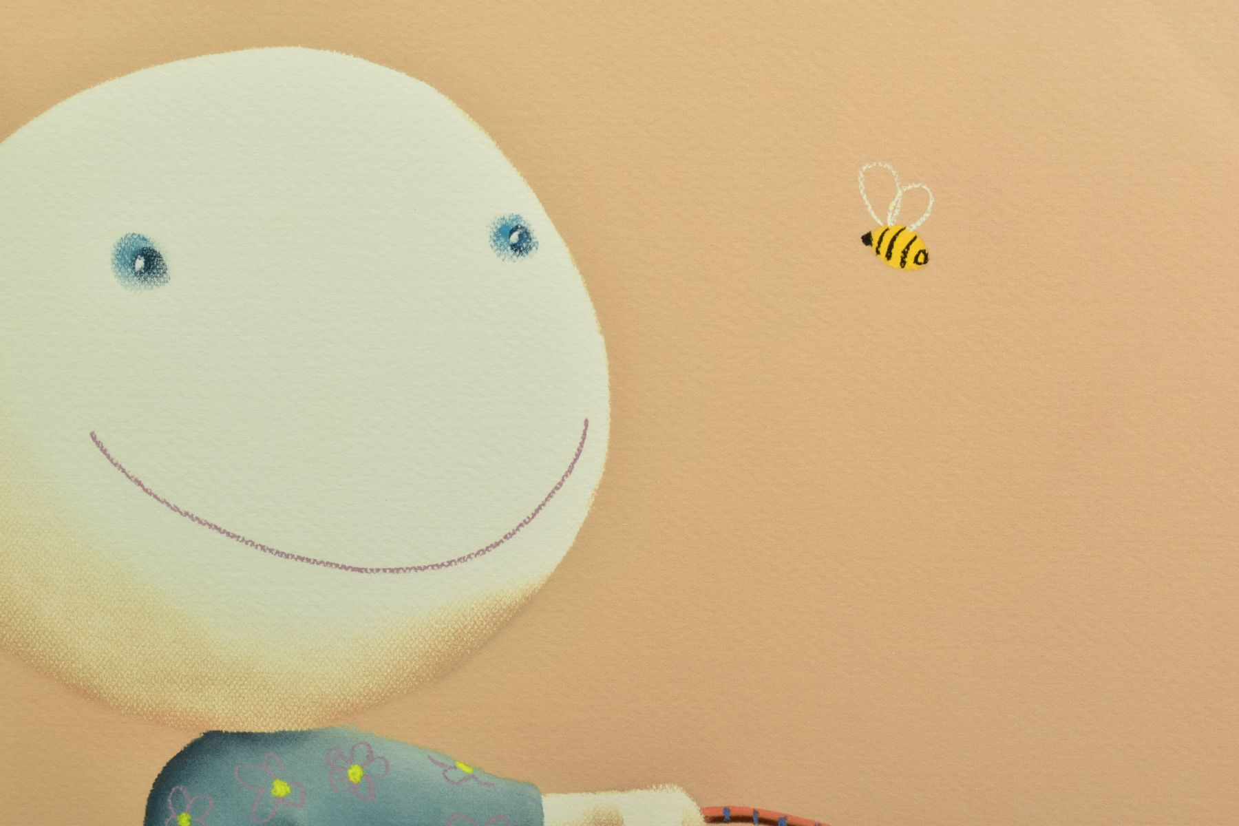 MACKENZIE THORPE (BRITISH 1956), 'It's Only A Bee', a Limited Edition print of a girl and her dog, - Image 3 of 6
