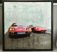 MARKUS HAUB (GERMAN 1972), 'Dino 308 GT4, Dino 246 GTS', studies of Ferrari motorcars, signed bottom