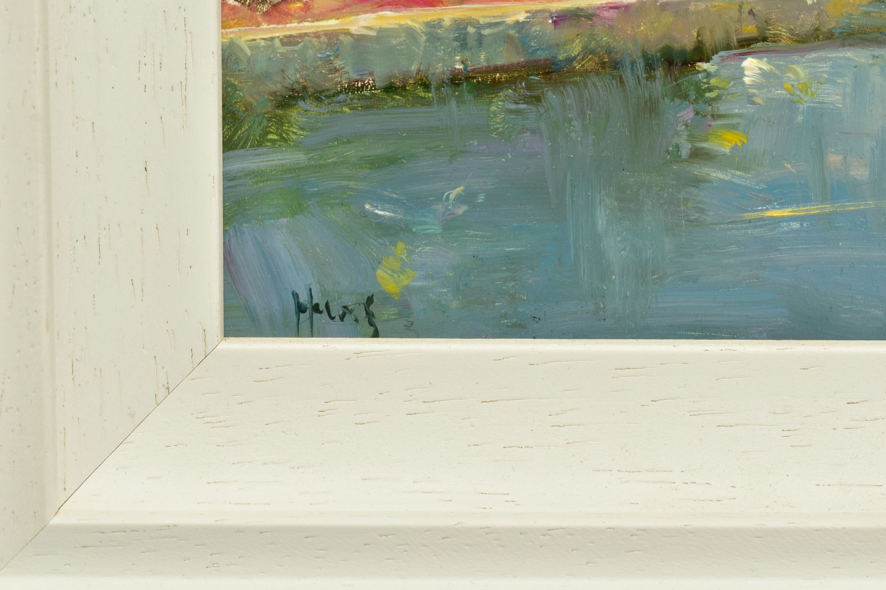 HELIOS GISBERT (SPANISH 1958), 'Parisian Summer', an impressionist view of Paris, signed bottom - Image 5 of 6