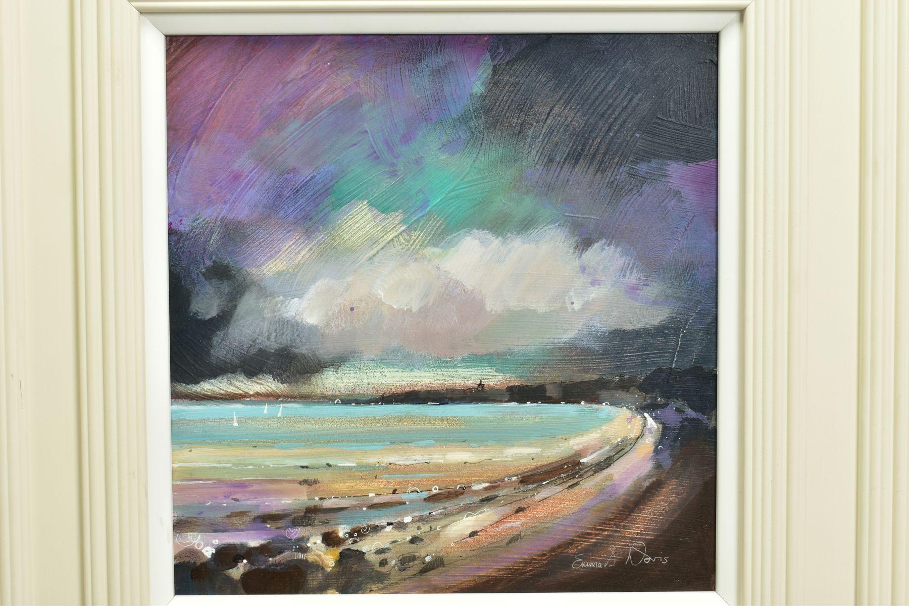 EMMA S. DAVIS (BRITISH 1975), 'Sailing at St Andrews', a Scottish coastal landscape, signed bottom - Image 2 of 6