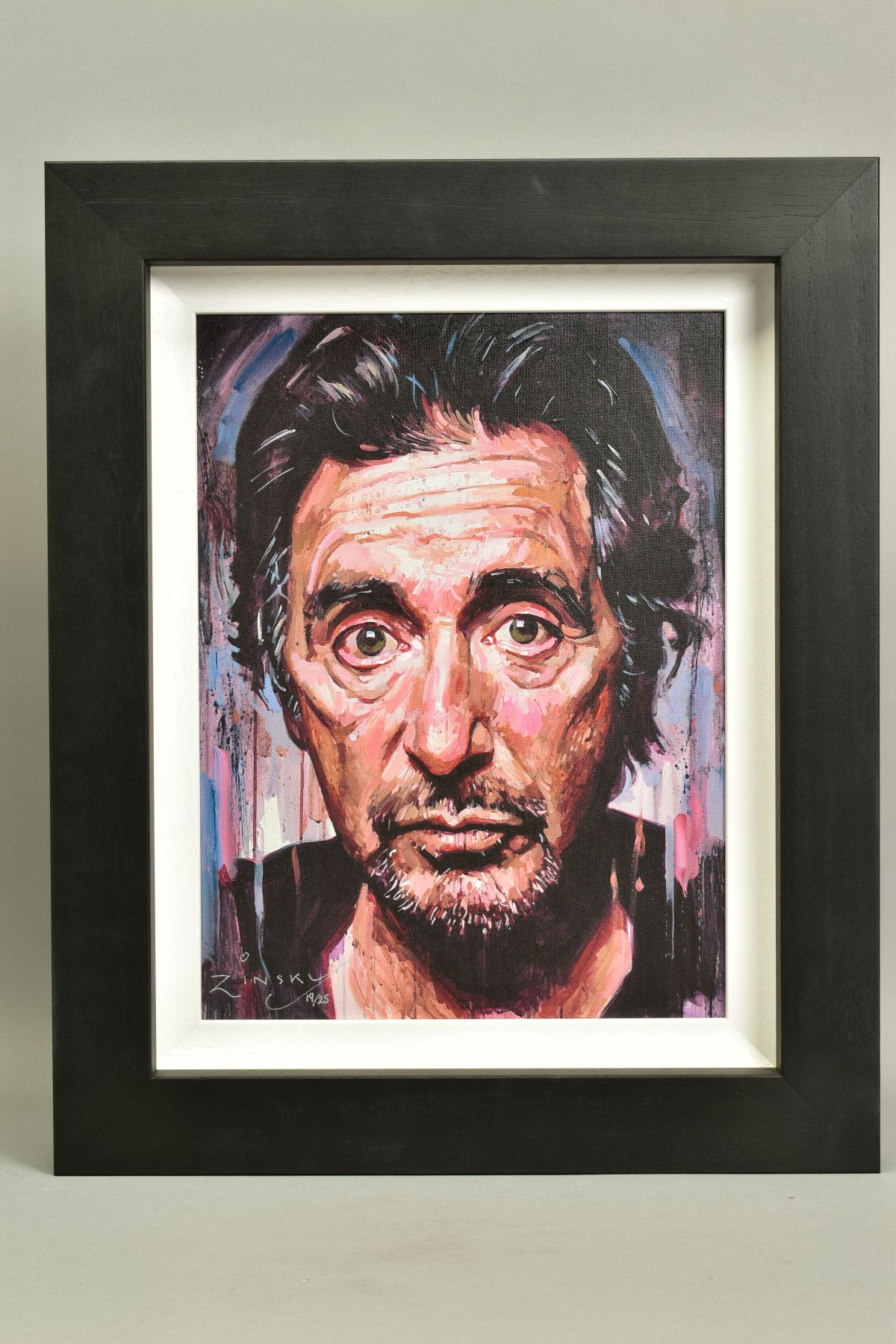 ZINSKY (BRITISH CONTEMPORARY), 'AL Pacino II', a portrait of the film star, a Limited Edition print,