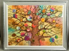KERRY DARLINGTON (BRITISH 1974), 'Golden Afternoon', insects, birds and leaves on a tree, signed
