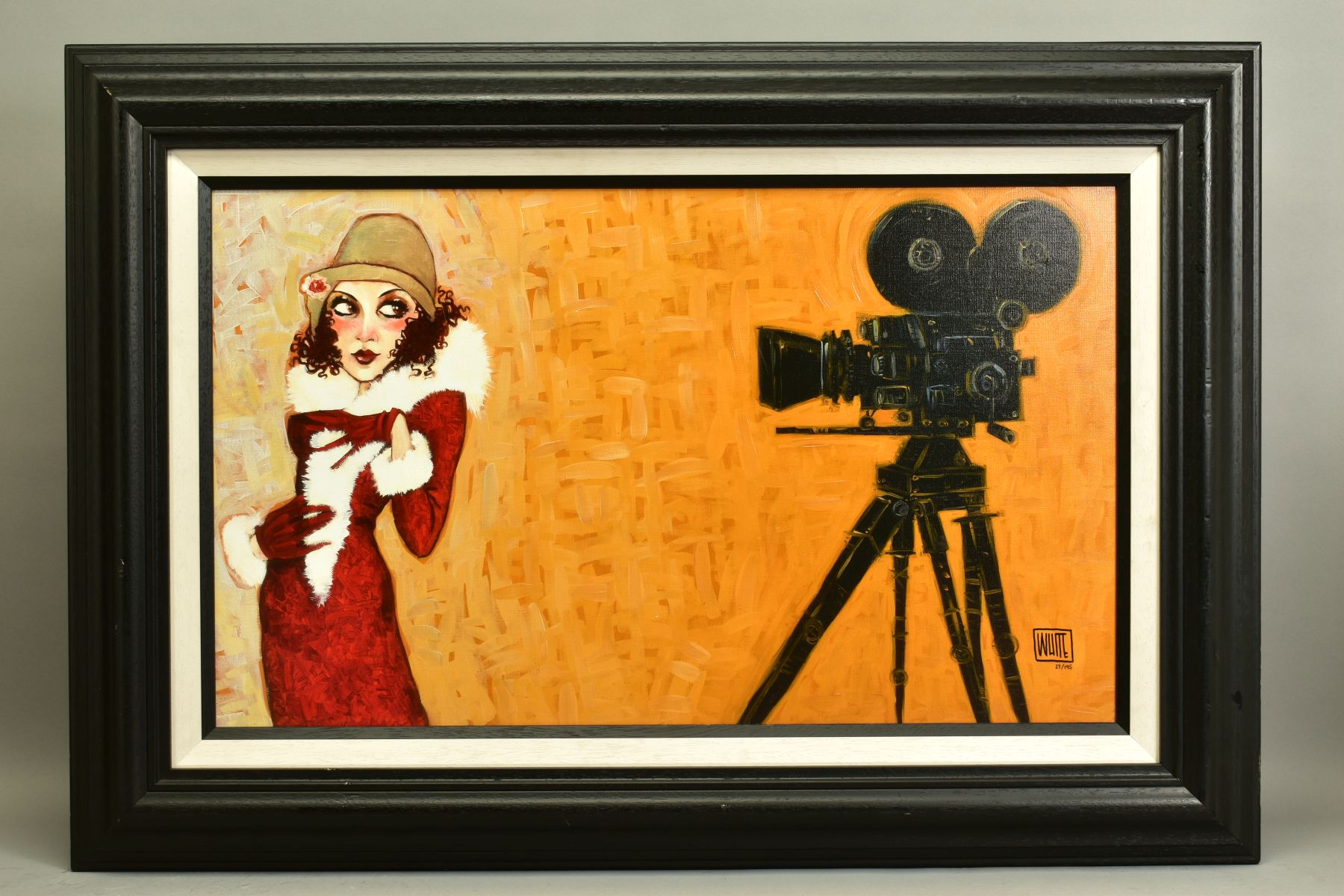 TODD WHITE (AMERICAN 1969), 'Her First Screen Test', a Limited Edition print of a female figure,