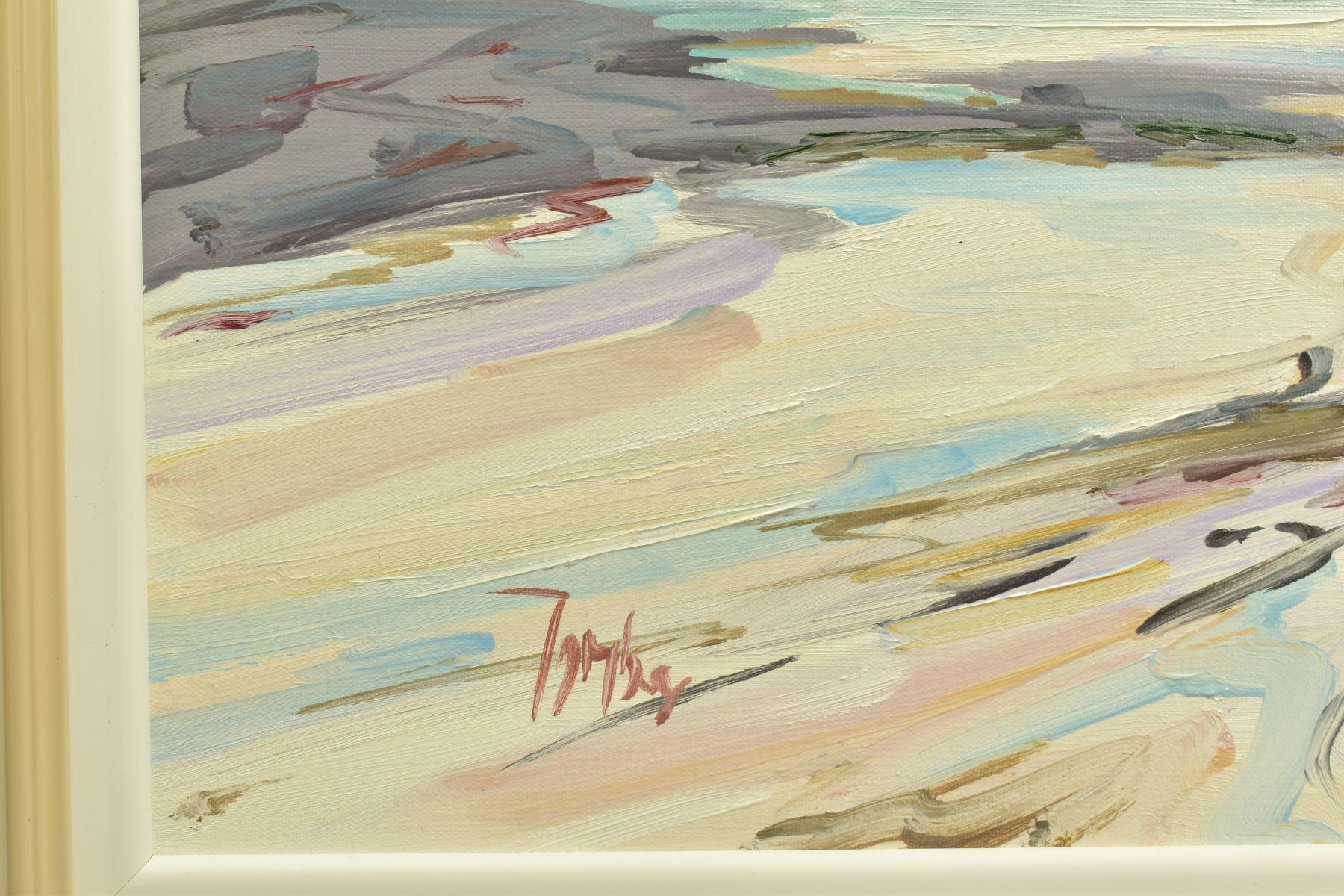 TOM BARRON (SCOTTISH CONTEMPORARY), 'Summer Light, Sanna Bay IV', a Scottish coastal landscape, - Image 3 of 5
