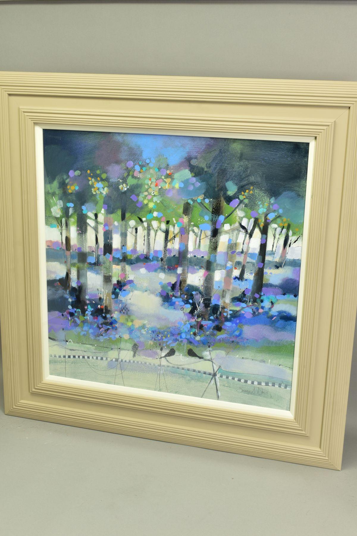 EMMA S. DAVIS (SCOTTISH 1975), 'Into The Woods', a colourful woodland landscape, signed bottom - Image 4 of 7