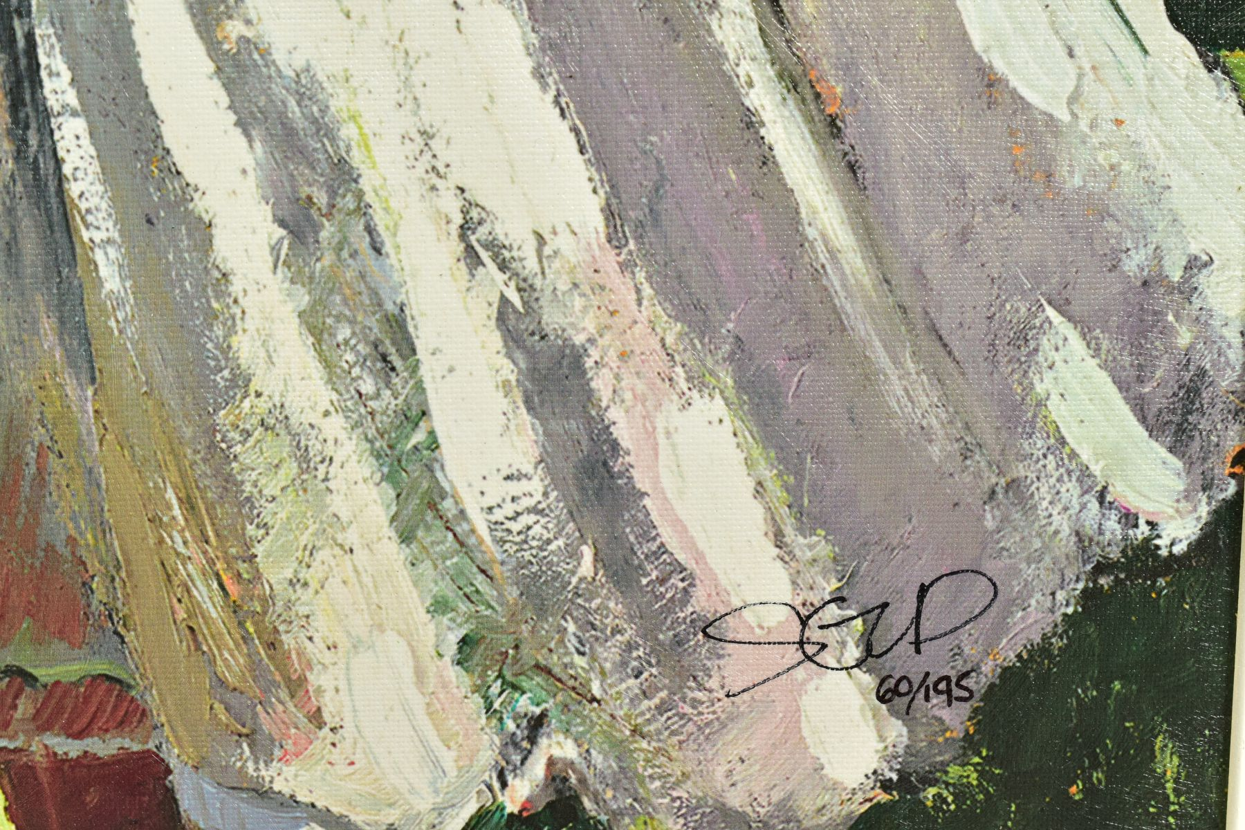 SHERREE VALENTINE DAINES (BRITISH 1959), 'Royal Ascot, Ladies Day II', a Limited Edition print, 60/ - Image 3 of 6