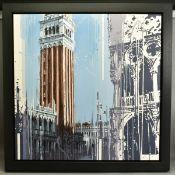 KRIS HARDY (BRITISH 1978), 'St Marks Square V', a Venetian scene, signed bottom right, oil on