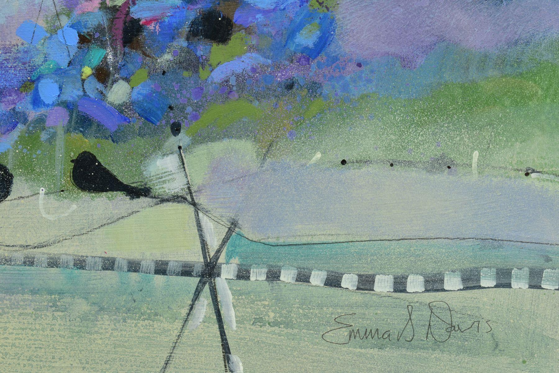 EMMA S. DAVIS (SCOTTISH 1975), 'Into The Woods', a colourful woodland landscape, signed bottom - Image 3 of 7