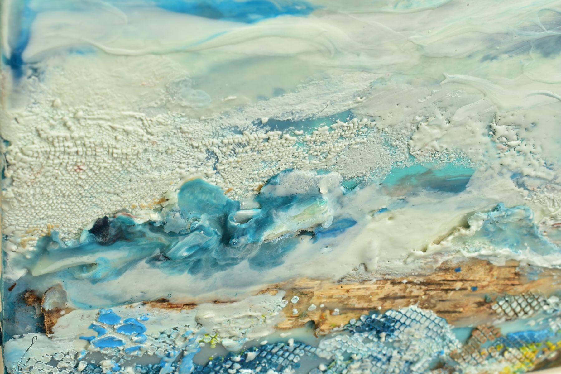 JENNINE PARKER (BRITISH 1971), 'Sea of Splendor', a coastal seascape, initialled bottom right, mixed - Image 6 of 7