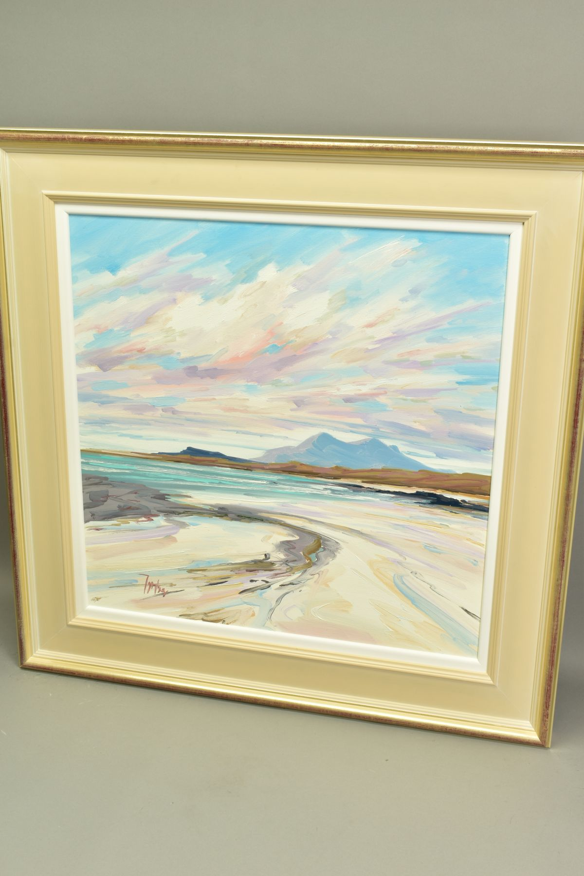 TOM BARRON (SCOTTISH CONTEMPORARY), 'Summer Light, Sanna Bay IV', a Scottish coastal landscape, - Image 4 of 5