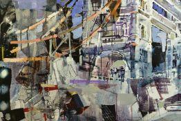 DAVID ESCARABAJAL (SPANISH 1974), 'Tower Bridge', an abstract study of the London landmark, signed