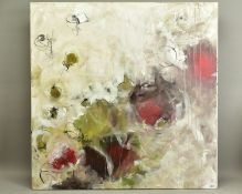 ANNIE RODRIGUE (CANADIAN CONTEMPORARY), 'Eruptus Des Kiwis', an abstract study, signed bottom right,