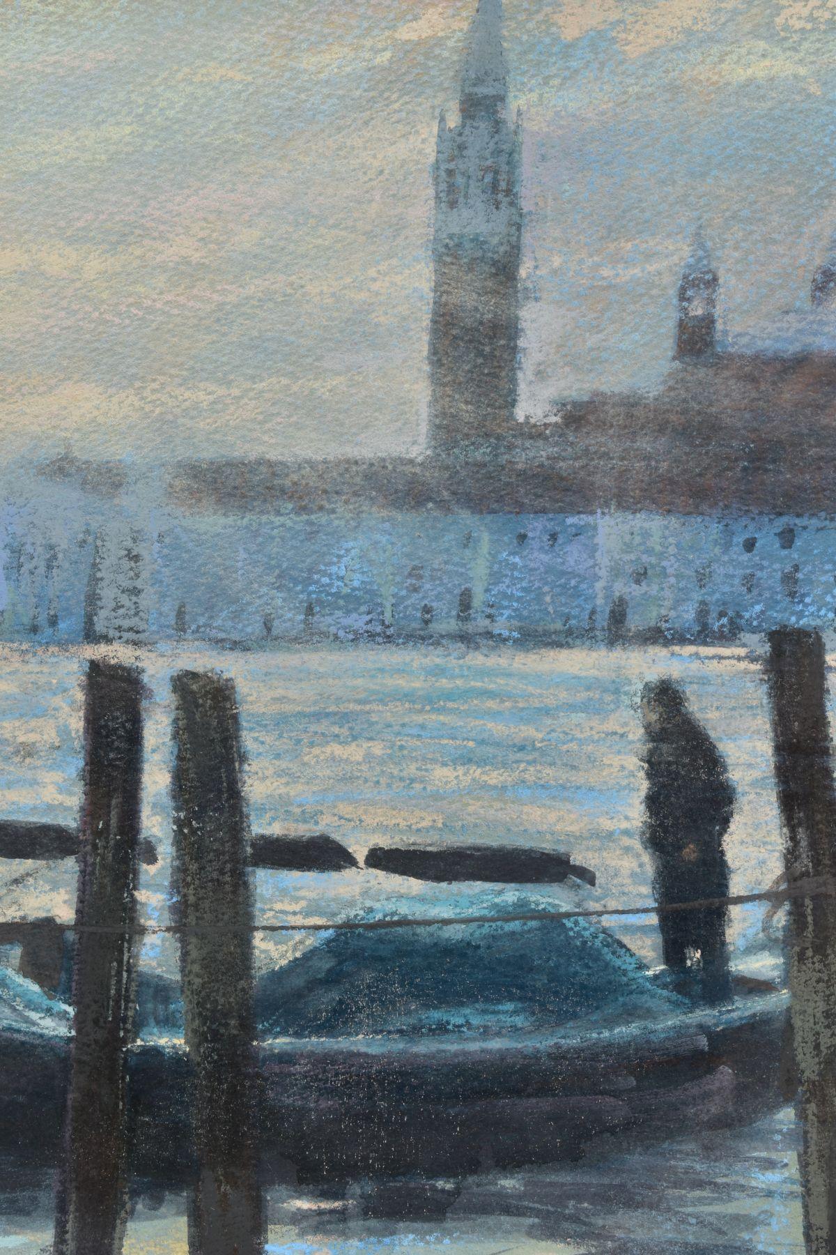 JAMES BARTHOLOMEW (BRITISH CONTEMPORARY), 'Towards San Giorgio, First Light', a Venetian scene - Image 3 of 7