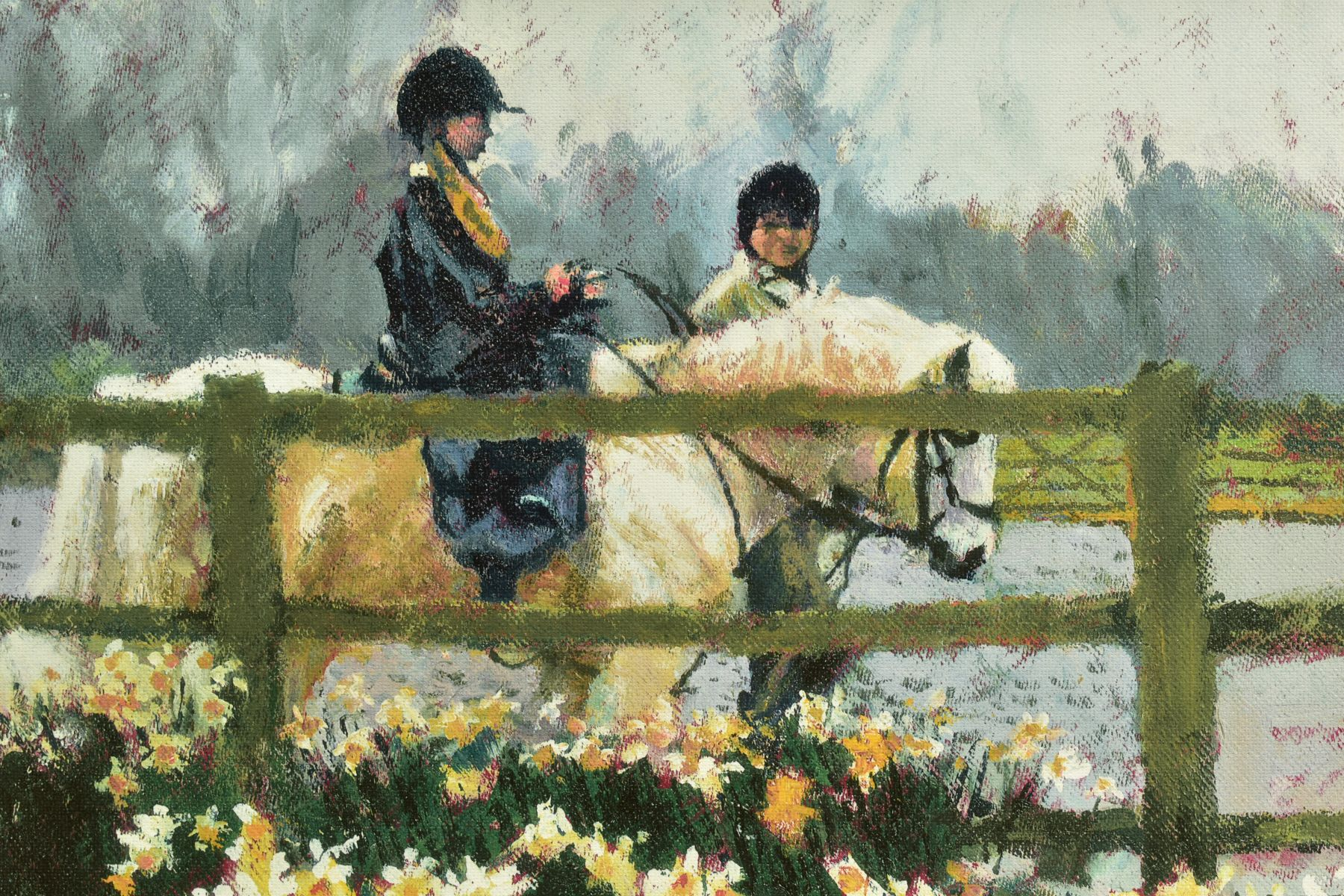 ROLF HARRIS (AUSTRALIAN 1930), a Limited Edition print depicting a young child on a Pony, 143/195, - Image 2 of 6
