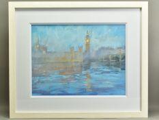 JAMES BARTHOLOMEW (BRITISH CONTEMPORARY), 'House of Parliament I', a view across the River Thames,