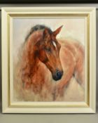 GARY BENFIELD (BRITISH 1965), 'Patience', a Limited Edition print of a Horse, 47/195, signed