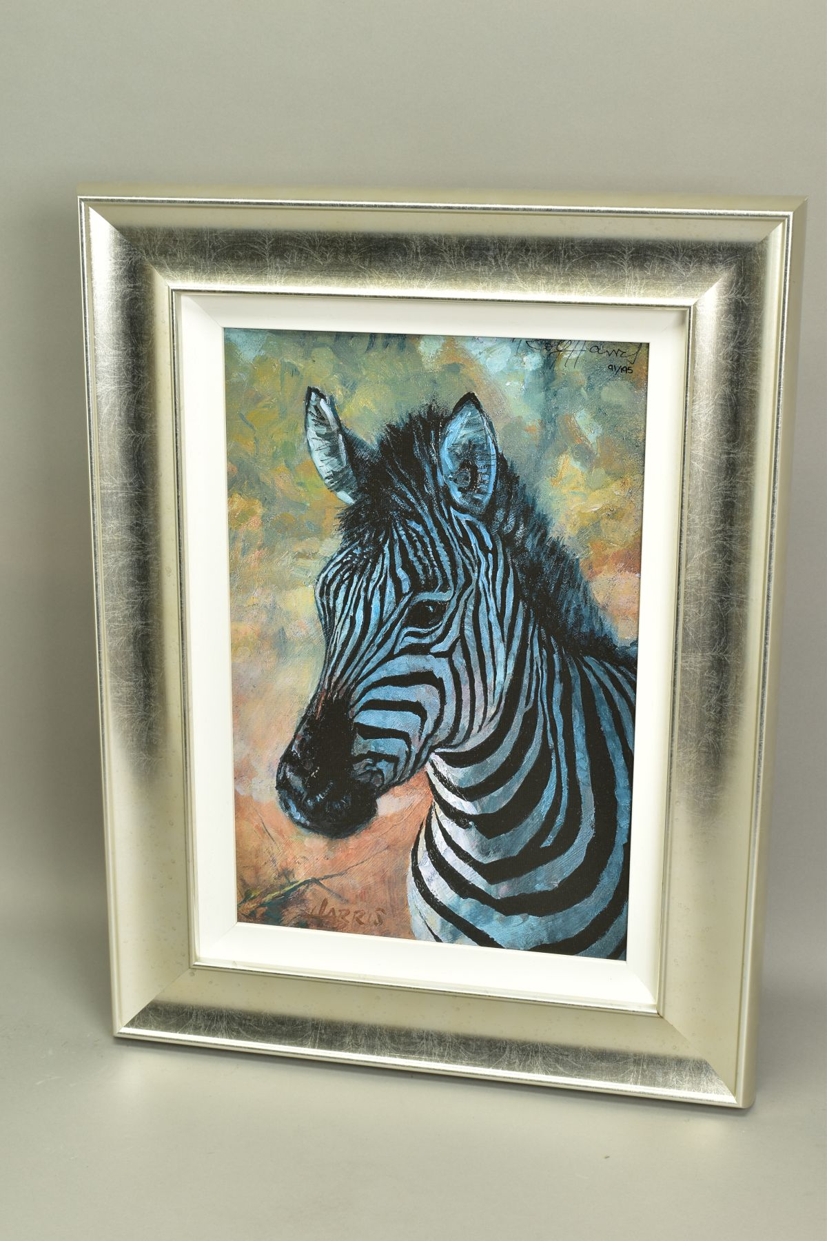 ROLF HARRIS (AUSTRALIAN 1930), 'Young Zebra', a Limited Edition print, 91/195, signed top right with - Image 4 of 5